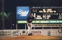 1998 - pitcher getting ready to throw a ball