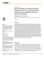 Eastern Caribbean Circulation and Island Mass Effect on St. Croix, US Virgin Islands: A Mechanism for Relatively Consistent Recruitment Patterns