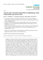 Analysis of the Urban Heat Island Effect in Shijiazhuang, China Using Satellite and Airborne Data