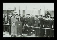 U.S. President Lyndon Baines Johnson receiving the Honorary Doctorate of Humane Letters at the FAU Dedication