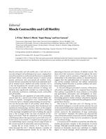 Muscle Contractility and Cell Motility