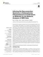 Inferring the Dysconnection Syndrome in Schizophrenia: Interpretational Considerations on Methods for the Network Analyses of fMRI Data