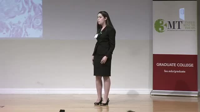 FAU 2017 3MT® Three Minute Thesis Championship - Felicia Cooper