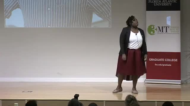 FAU 2017 3MT® Three Minute Thesis Championship - Malissa Sanon