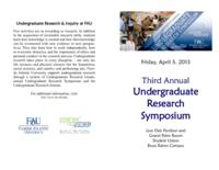 Third Annual Undergraduate Research Symposium