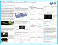 The Effect of Flexibility and Aspect Ratios on Ribbon-Fin-Propulsion