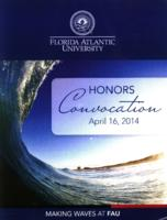 Florida Atlantic University Honors Convocation 2014-04-16