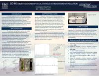 GC-MS Investigation of Fecal Sterols as Indicators of Pollution