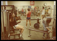 Students training at the gym