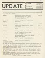 Update Florida Atlantic University, 1970-01-01