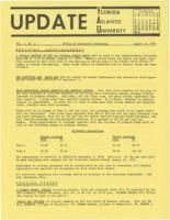 Update Florida Atlantic University, 1970-08-15