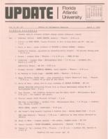 Update Florida Atlantic University, 1973-04-01