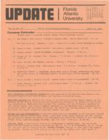 Update Florida Atlantic University, 1973-04-15