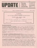Update Florida Atlantic University, 1973-07-15