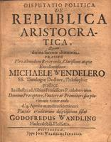 Disputatio Politica De Republica Aristocratica Quam