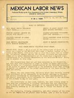 Mexican Labor News - April 6, 13, 20, 1939  v. 6, nos. 14, 15 and 16