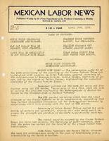 Mexican Labor News - April 24, 1941  v. 8, no. 63