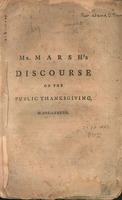 A discourse delivered at Wethersfield, December 11th, 1783 : being a day of public thanksgiving, throughout the United States of America.