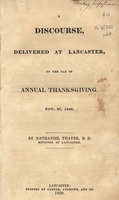 A discourse, delivered at Lancaster, on the day of annual thanksgiving. Nov. 27, 1828.