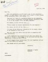 Council of Advisors Correspondence, 1976