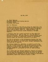 Henry Chauncey - A. J. Brumbaugh Correspondence, 1960-1961