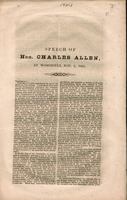 Speech of Hon. Charles Allen, at Worcester, Nov. 5, 1853.