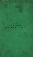 Sermon on Thanksgiving-day, Thursday, November 20, 1856 by George W. Bethune, Minister of the Reformed Dutch Church on the Heights, Brooklyn.