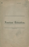 American patriotism : a sermon preached in the Arch Street Church, Sabbath morning, April 28th, 1861