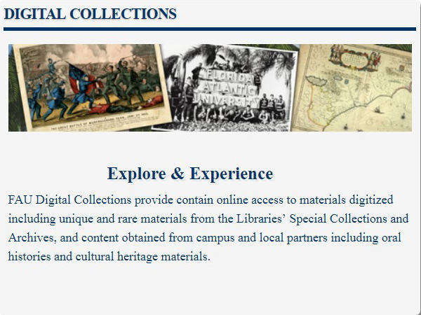FAU Digital Collections