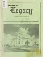 Broward Legacy, Volume 11 (Winter/Spring 1988), Number 1 and 2