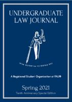 Florida Atlantic University Undergraduate Law Journal 2021
